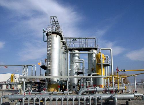 塔河油田采油二厂集输二大队8-3中心站干法脱硫装置