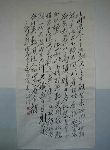 书法 毛泽东诗词沁园春 雪