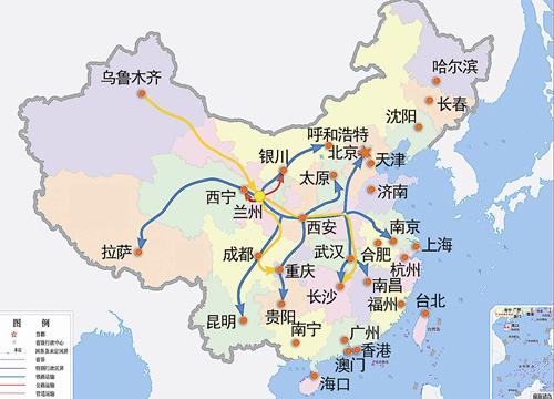 中国的油气资源主要分布在两个方向,一头在东北,一头在西北.