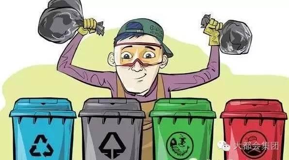 分类垃圾桶随处可见