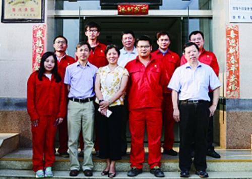 上海经信系统工会领导慰问长沙处