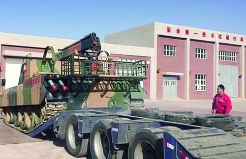 蒲县维抢修队开展山地抢险车装车演练
